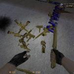 Скачать КС 1.6 Gold Weapons (Золотое Оружие)