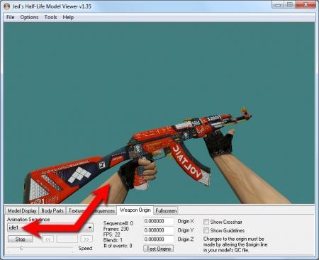 Как убрать анимацию осмотра у оружия в CS 1.6